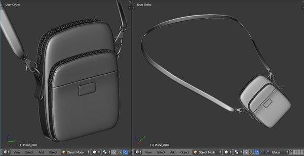 supreme shoulder bag 3D model