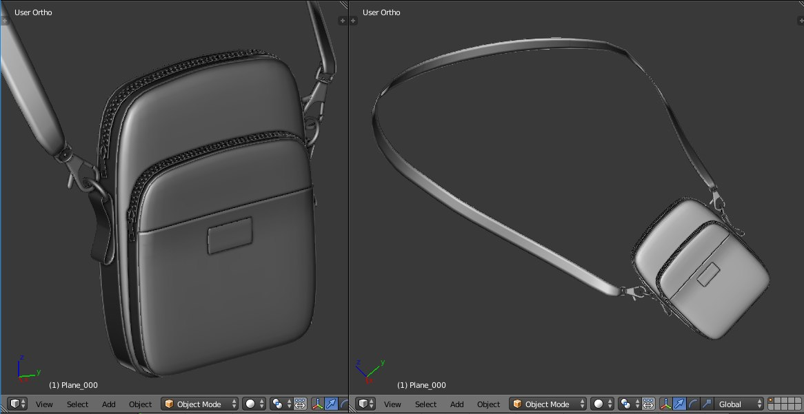 supreme shoulder bag 3D model