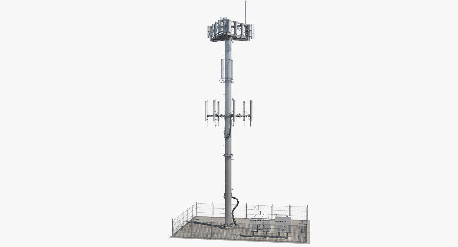 3D cellular tower site model