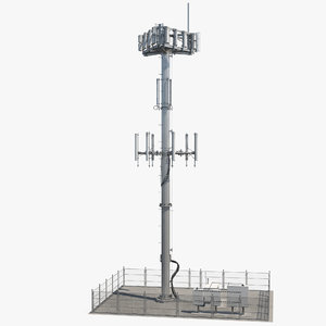 3D cellular tower site model