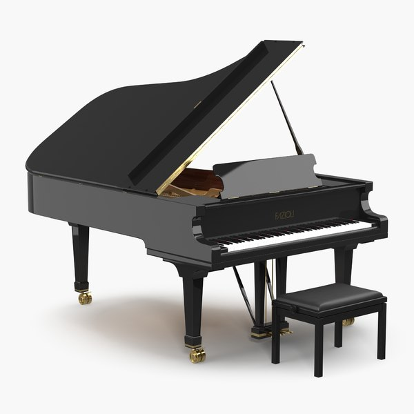grand piano fazioli bench model