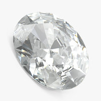 oval cut diamond 3D