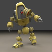 cute bee style 3D model