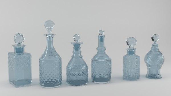 3D persian perfume bottles model