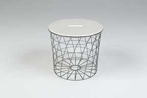 3D model table modern architectural