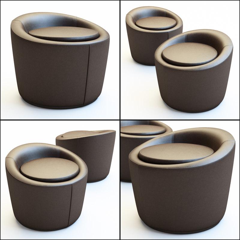 pouf loren 3D model
