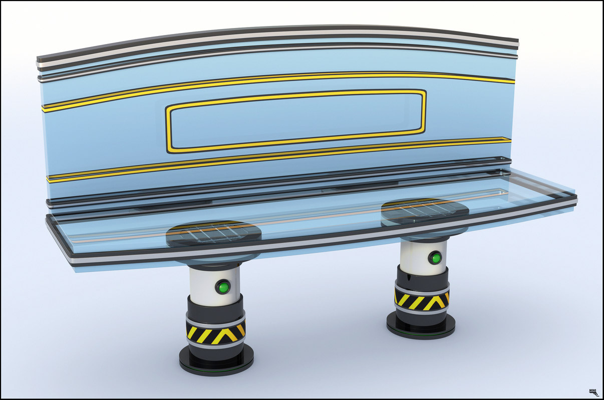 3D bench sci-fi model