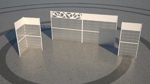 fence architectural model