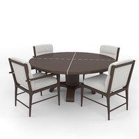 luca chair table 3D model