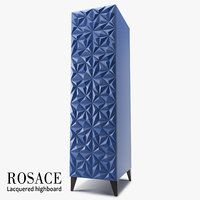 rosace lacquered highboard 3D