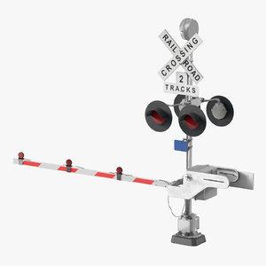 train track crossing gate model