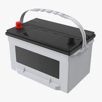 3D model car battery 02