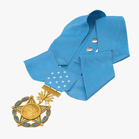 3D medal honor airforce laying