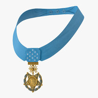 medal honor airforce worn 3D model