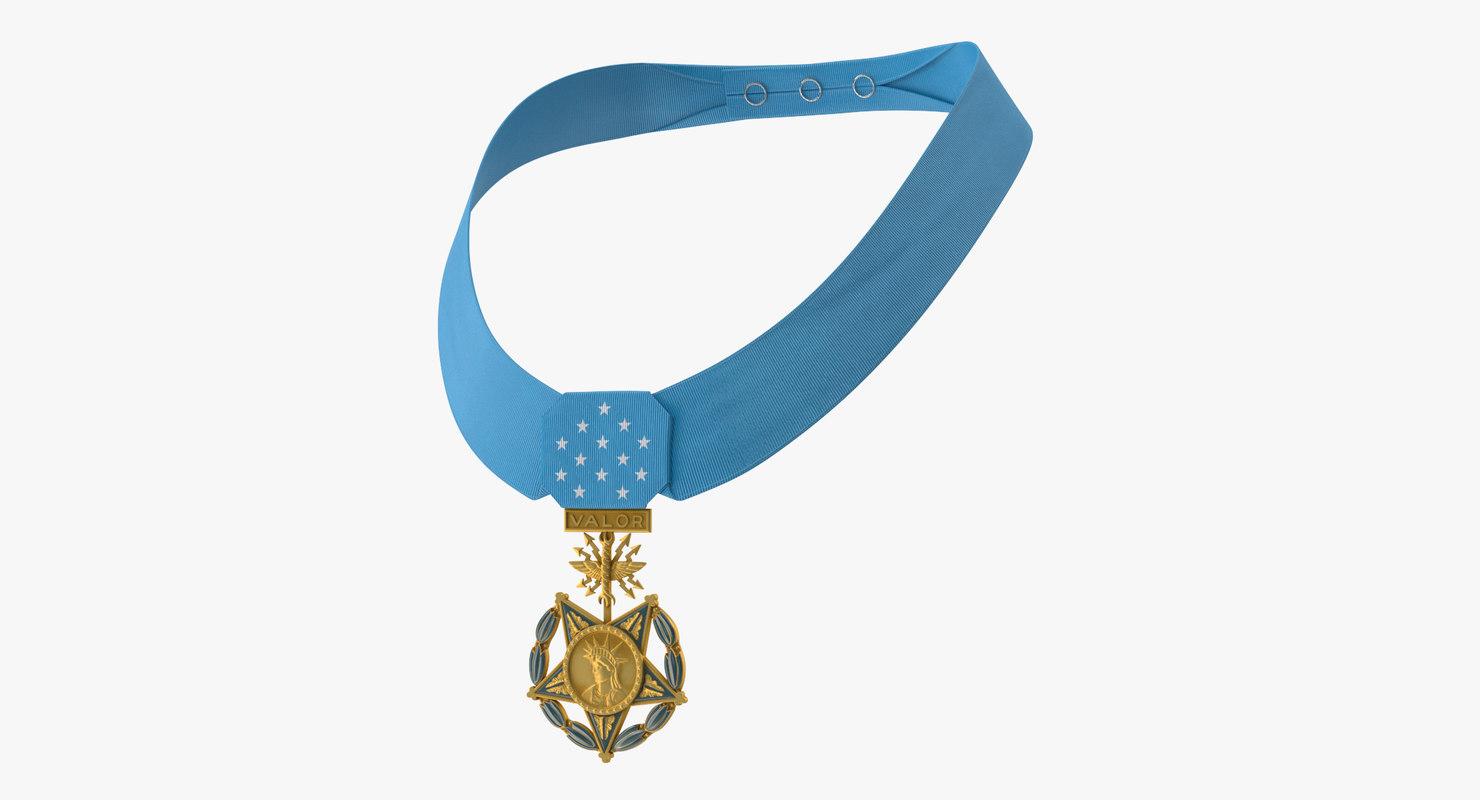 medal honor airforce worn 3D model