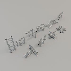3D model truss pieces