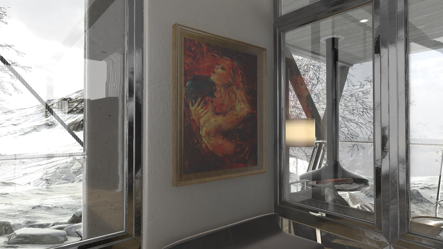 architectural painting 3D model