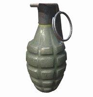 american m2 grenade 3D model