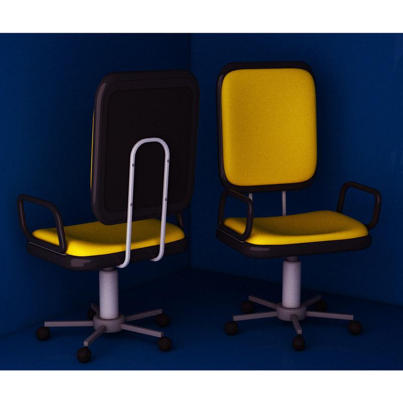 3D office computer chair