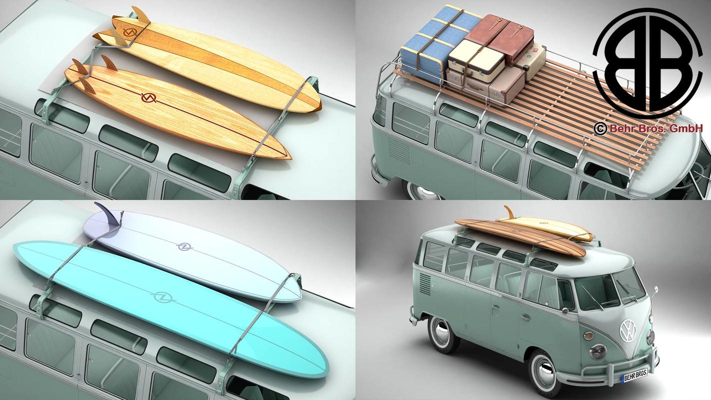 3D volkswagen samba 1963 accessory