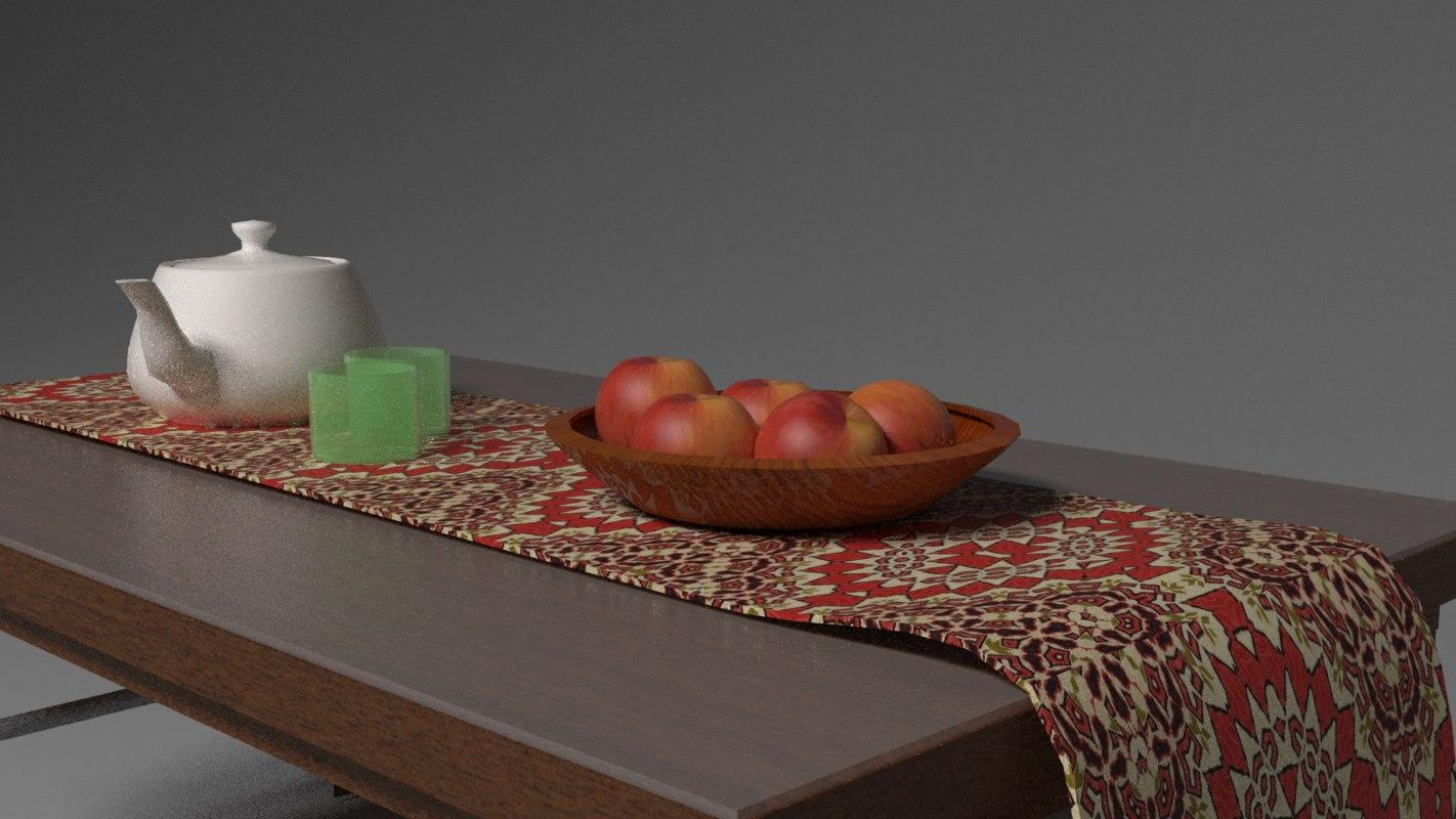 3D table fruit living model