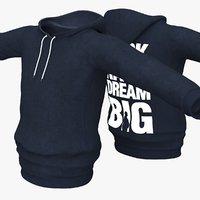 hooded sweatshirt 3D model