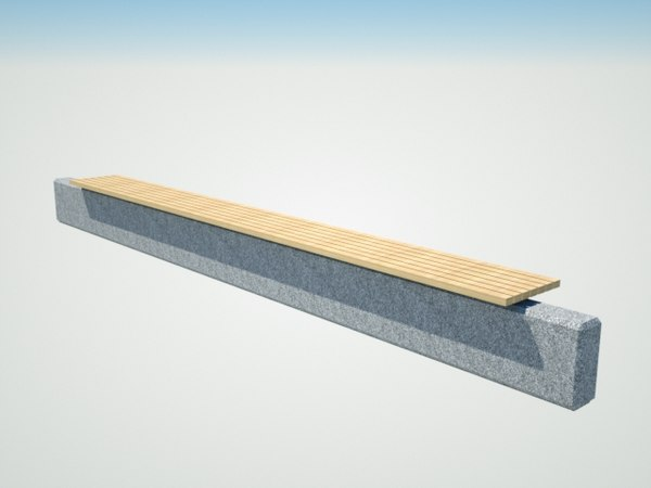 bench lisboa 3D model