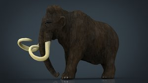 3D mammoth model