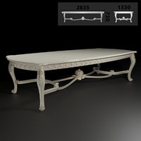 3D carved dining table