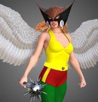 3D model hawkgirl hawkwoman