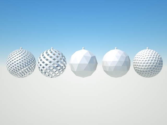 xmas sphere 3D model