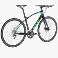 Photorealistic Giant Fastroad Cm1 Black Bicycle