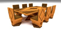 furniture dining 3D