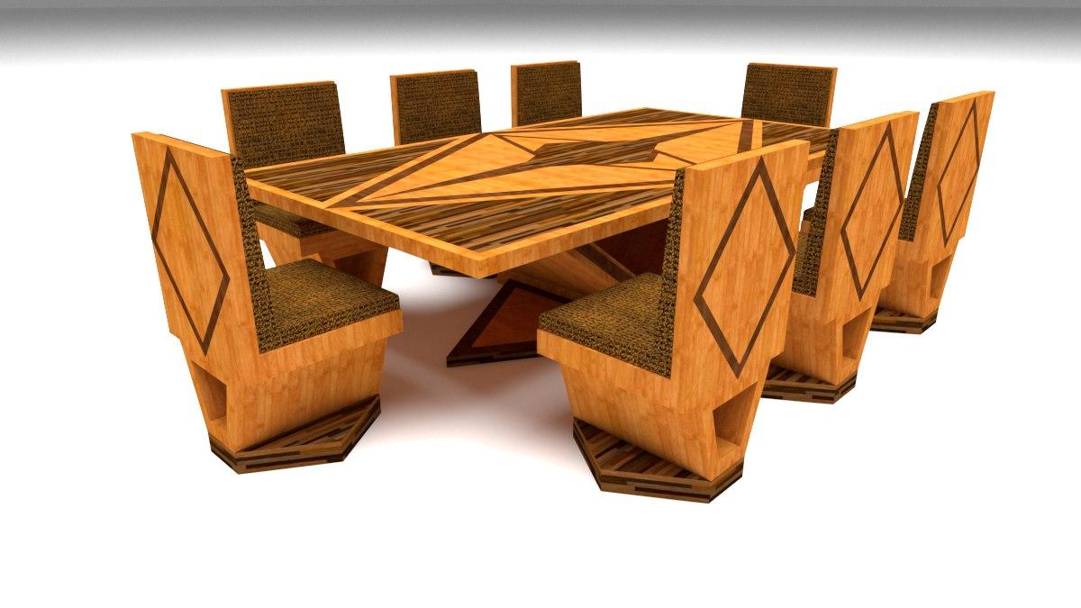 furniture dining 3D