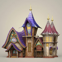 ready fantasy house games 3D model