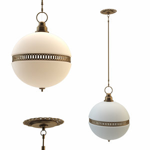 hendricks small globe pendant 3D