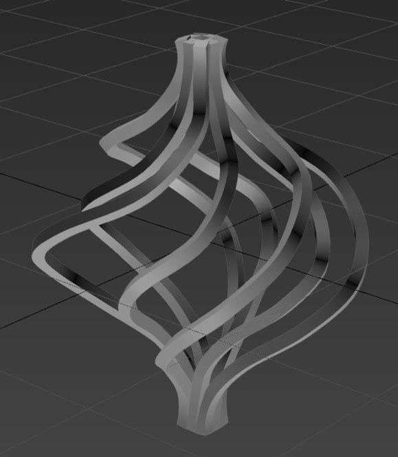 metallic ornament 3D model