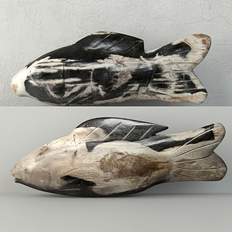 3D hand carved petrified wood model