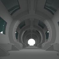 3D scifi interior model