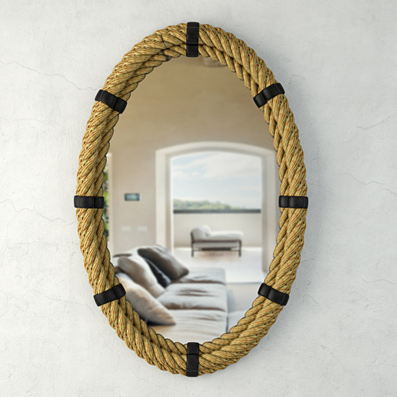 nautical rope oval mirror model