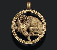 3D model horoscope aries
