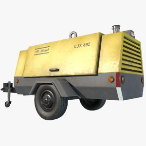 towable compressor 3D model