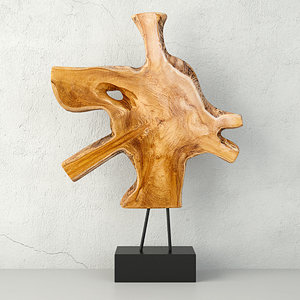 3D teak decorative figure zara model