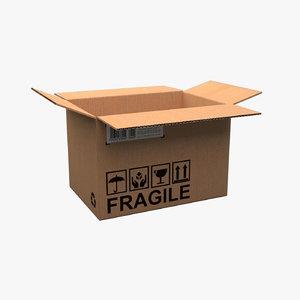 3D cardboard box rigged
