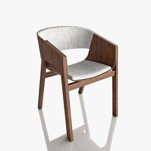 ton merano armchair 3D