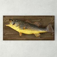 vintage fish mount 3D model