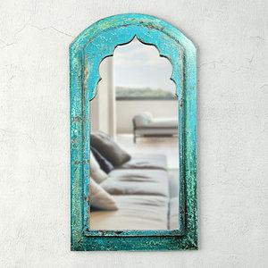 3D model vintage moorish wood mirror