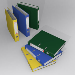ring binder folders 3D model