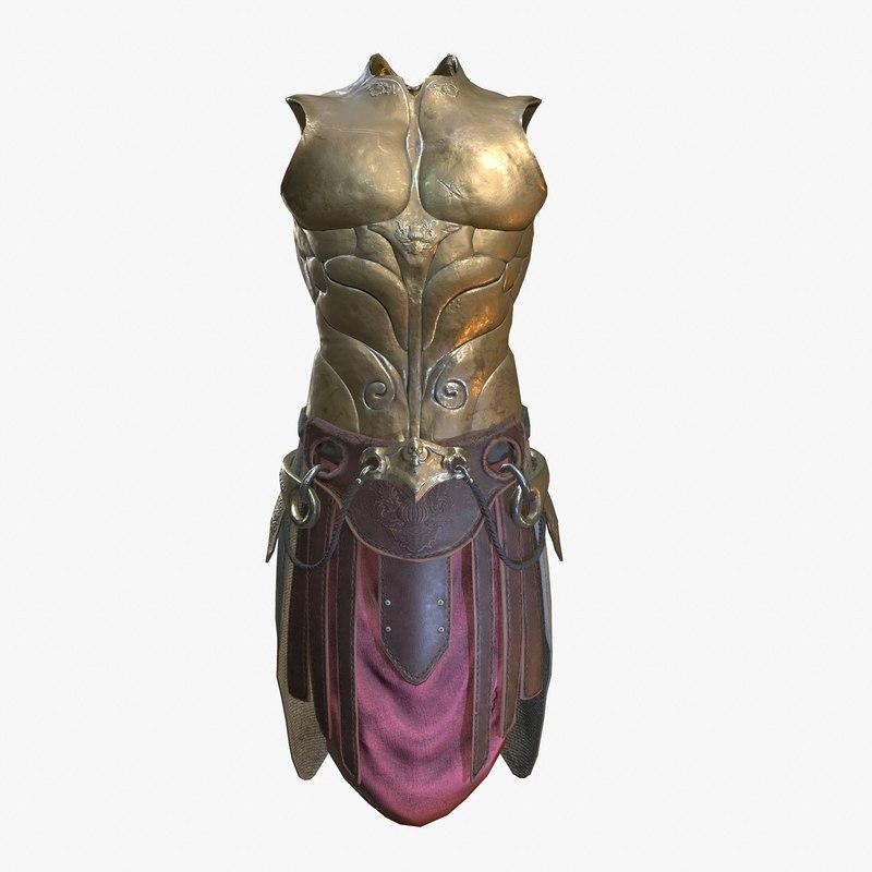 3D golden armor