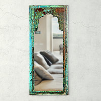 vintage wood moorish mirror 3D model